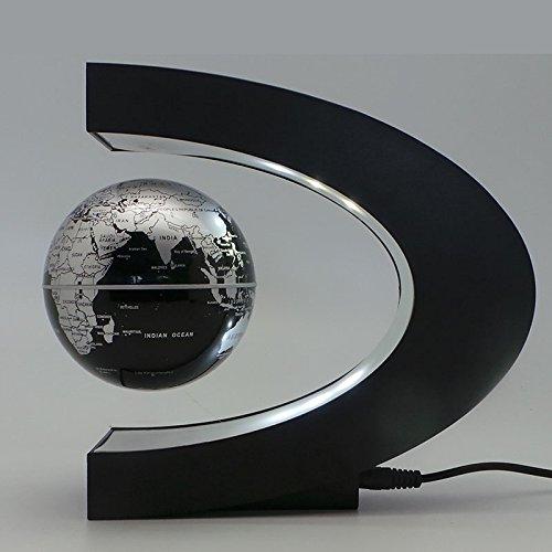 Denshine Forma de C Decoración de Levitación Magnética Globo Terraqueo