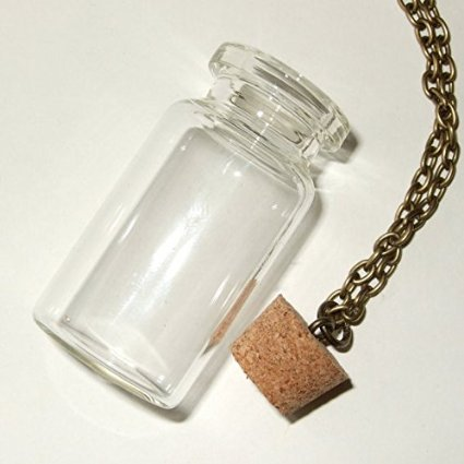 bottle item gift diy dry handmade unique lot glass for pendant wholesale flower kids necklace women