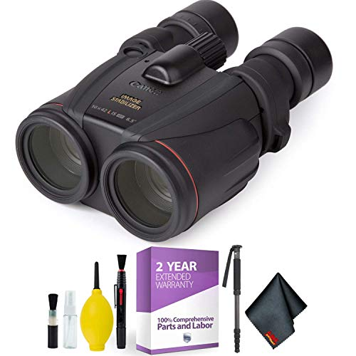Canon 10x42 L is WP Image Stabilized Binocular + Cleaning Kit Essential Accessories Bundle