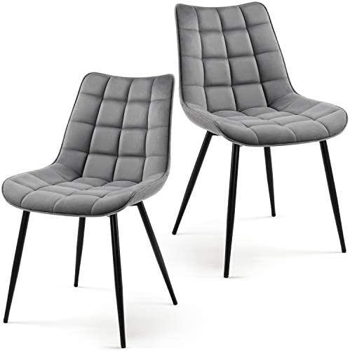 Yaheetech 2pcs Dining Chairs Armless Side Chairs Upholstered Chairs