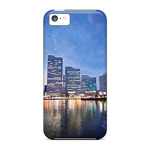 Pretty CYe9910sfuv Iphone 5c Cases Covers/ Sunset In Yokohama Japan Series High Quality Cases