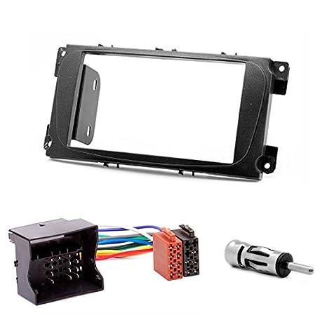 Carav 08 - 002 - 23 - 6 doble DIN Juego de 2 din de radio con ISO adaptador: Amazon.es: Electrónica