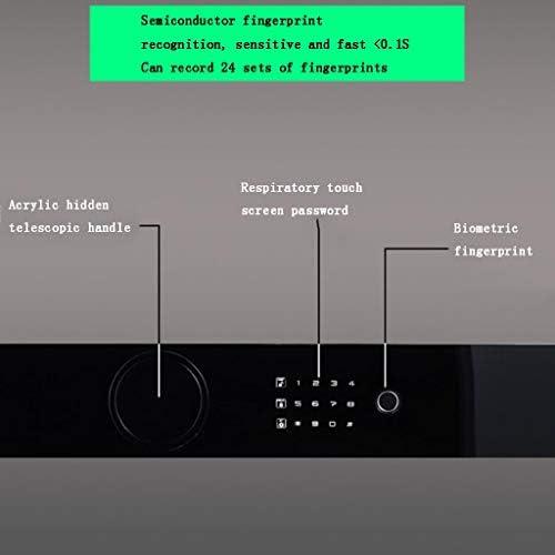 パーツボックス 金庫柔軟な4つの方法に開放金庫ホテルのプライベートストレージボックスホームパスワード内閣クロークベッドルーム (Color : 白, Size : 62.8*43*38cm)