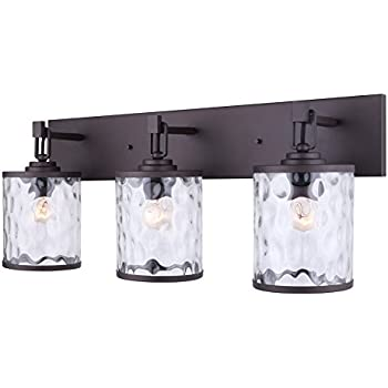vanity light fixtures walmart bathroom brushed nickel watermark glass oil rubbed bronze easy connect included led