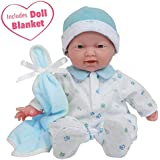 JC Toys, La Baby 11-inch Washable Soft Body Boy Baby Doll with Baby Doll Accessories - for Children 12 Months and Older, Designed by Berenguer