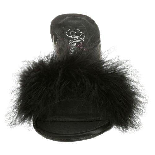 Amour Chaussures Shoes Usa fourrure Satin Avec Noir fabulicious Pleaser Duvet qZtE5nZ