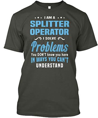 Price comparison product image I am a Splitter Operator i Solve. L - Smoke Gray Tshirt - Hanes Tagless Tee