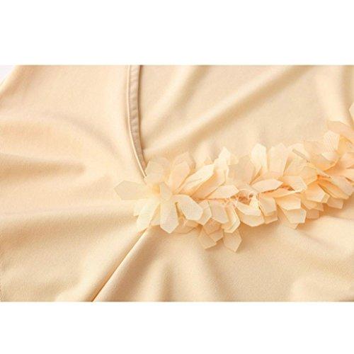 Dorame reggiseno a bagno Pizzo da beachwear Floreale Bikini l'alto Donna verso Costume fascia Spingere Costumi mutande in Oro Imbottito Rwq758Cx