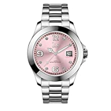 Ice-Watch - ICE steel Light pink with stones - Reloj soldi para Mujer con Correa de metal - 016776 (Medium)