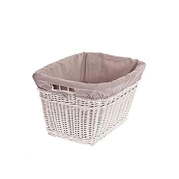 Wäschekorb Vintage wäschekorb aus weide puff retro wäschekorb vintage stil weißer