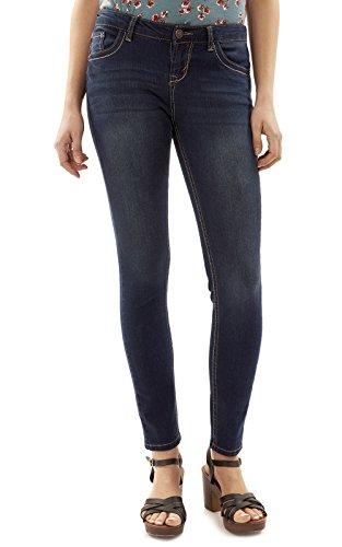 Juniors Blue Jeans - WallFlower Women's Juniors Basic Legendary Skinny Jeans in Scarlett Size: 11