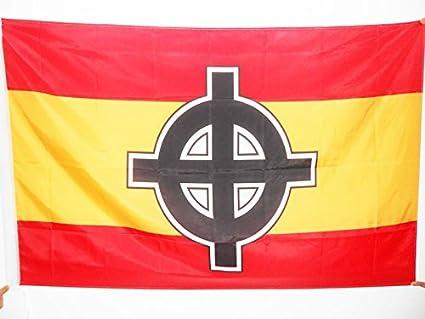 AZ FLAG Bandera de ESPAÑA Cruz Celta 150x90cm para Palo - Bandera ESPAÑOLA NACIONALISTA 90 x