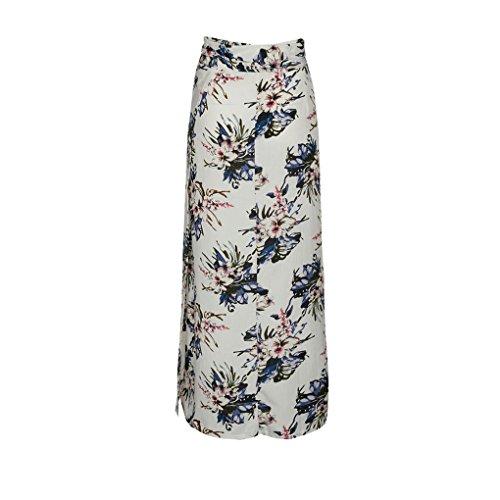 Les Floral en de Longue Providethebest Vrac Jupe Lacets Jupe Femmes Boho Taille Haute Split Bandage fd4w7w