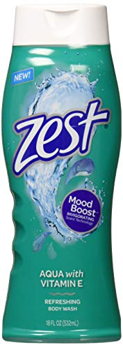 Zest BODYWASH Aqua 18 OZ (Pack of 6)