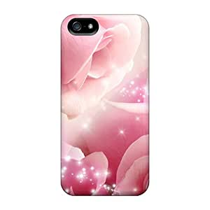 Excellent Iphone 5/5s Case Tpu Cover Back Skin Protector Roses So Pink
