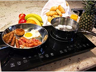 Evergreen Home 1800W Double Digital Induction cooker Cooktop | Portable...