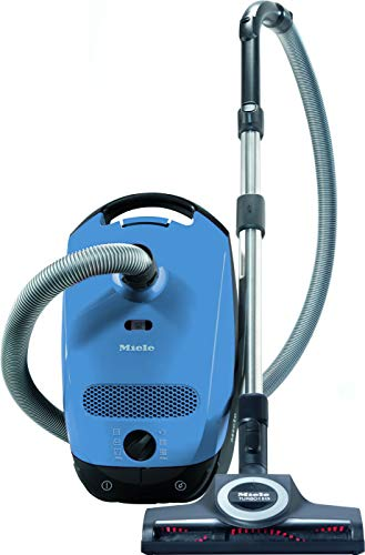 (Miele Classic C1 Turbo Team Canister Vacuum Cleaner, Tech Blue)