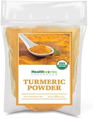 Healthworks Turmeric Powder (16 Ounces / 1 Pound) | Ground Raw Organic | Curcumin & Antioxidants | Keto, Paleo, Vegan, Non-GMO | Anti-Inflammatory