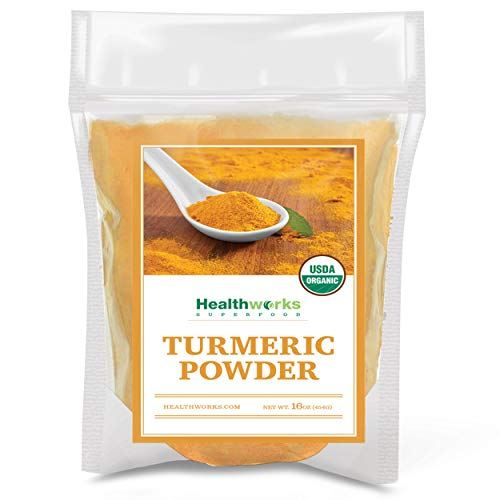 Healthworks Turmeric Powder 16 Ounces / 1 Pound | Ground Raw Organic | Curcumin amp Antioxidants | Keto Paleo Vegan NonGMO | AntiInflammatory