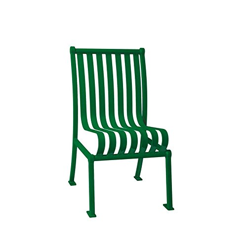 Ultra Play Green Commercial Park Hamilton Portable Patio Chair with No Arms Surface Mount and Vertical Slats