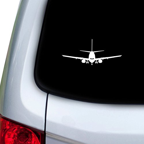 Aviation Decal - StickAny Car and Auto Decal Series Plane Face Sticker for Windows, Doors, Hoods (White)