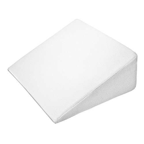 Support Plus Bed Wedge Pillow - Premium Hybrid Memory Foam Triangle Cushion to Elevate Upper Body - Recommended for Acid Reflux, Snoring and GERD - Washable, Removable Cover