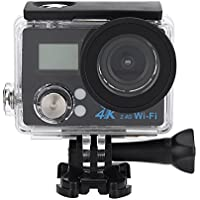 4K Wifi Sports Action Camera Camcorder 16MP Ultra HD Waterproof DV Camcorder 2 Inch Double LCD Screen 170 Degree Wide Angle with 900mAh Built-in Batteries