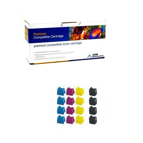 AIM Compatible Replacement for Xerox Phaser 840 Color Solid Ink Sticks Combo Pack (6-BK/5-C/M/Y) (016-160-MP5) - Generic