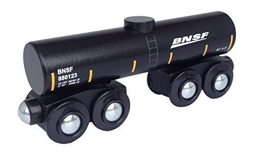 BNSF Tank Car magnetic wooden train