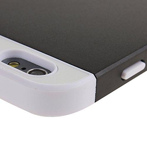 iPhone 6S funda, iPhone 6 caja, carcasa iPhone 6S 6 alpexe, silicona NSSTAR y plástico duro cristales elegantes Color 2-in-1 híbrida carcasa alpexe para Apple iPhone 6 (2014) y iPhone 6S (2015), Pink+ white+Black