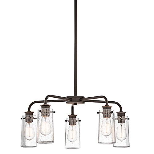 Braelyn 5 Light Chandelier, Bronze, Rustic, Candle-Style Cha