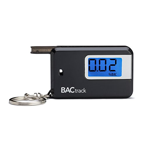BACtrack Go Portable Keychain Breathalyzer Personal Breath Alcohol Tester - Black (Best Thing For Alcohol Breath)