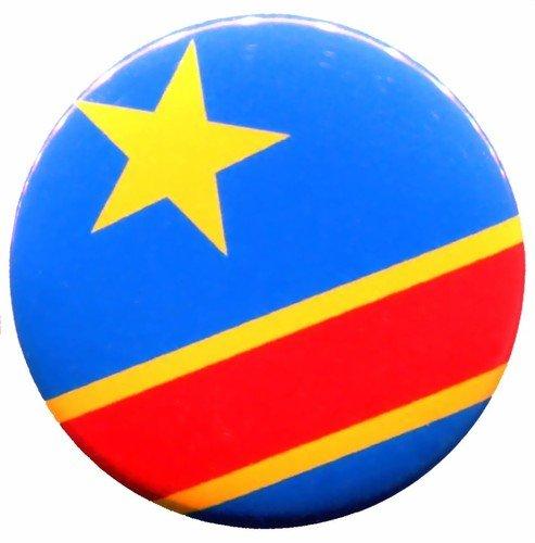 (Congo Flag Congolese Zaire Pin Pinback Badge Button New Handmade Design From Thailand)