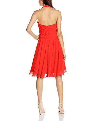 Astrapahl Einfarbig Gr Cocktail Rot Damen Knielang Kleid 42 Neckholder Rostrot pnparqA