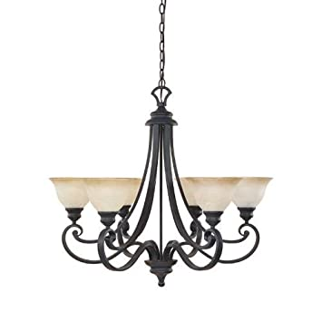 Designers Fountain 96186-NI Barcelona 6-Light Chandelier, 30.75 x 27.5 , Natural Iron