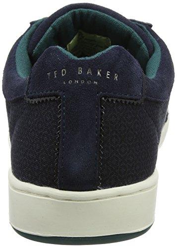 Ted Baker Kiefer Text Am Dk Blue, Sneaker Uomo Blu (Dark Blue)
