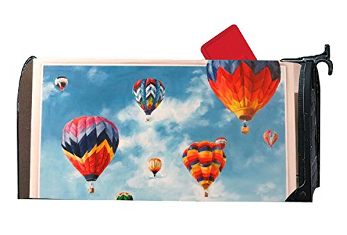 Taocaihop Hot Air Balloon Mailbox Cover - Mailbox Makeover - Vinyl Magnetic Cover 6.5'''' W x 19'''' L by Taocaihop