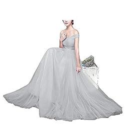 Cafskye Bridesmaid Dresses Long Wedding Party Dress Royal Blue Bridesmaid Dress Tulle Robe Light Gray 118 6