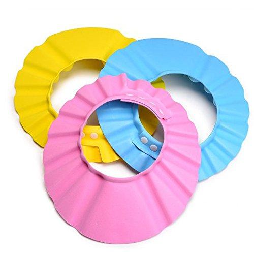 Blulu 3 Pack Baby Shower Cap Bath Shampoo Cap Hat