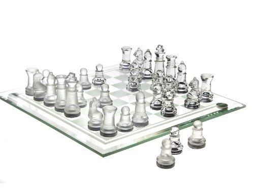 Chess Game Set Fine Glass( 8  x (Square Chess Set)