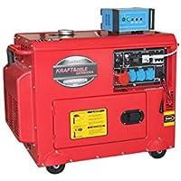 Generador diésel silencioso monofásico 3 x 220 V 1 x 380 V trifásico Kraft&Dele + ATS grupo electrógeno 6,5 kW