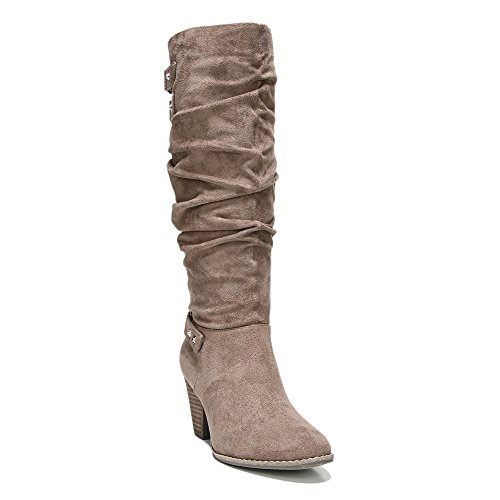 Dr  Scholls Womens Covet Slouch Boot Stucco Microsuede Us 9 5 M