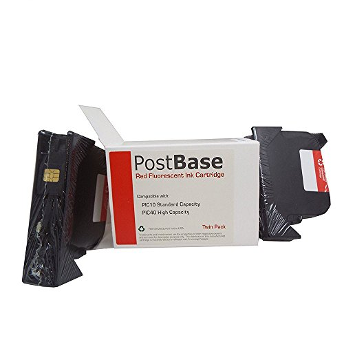 (Money Saving Bundle) Postbase PIC 40 Compatible Direct Replacement High Capacity Ink Cartridges + 2 FREE Boxes Postbase Labels (1000 Labels) by Preferred Postage Supplies