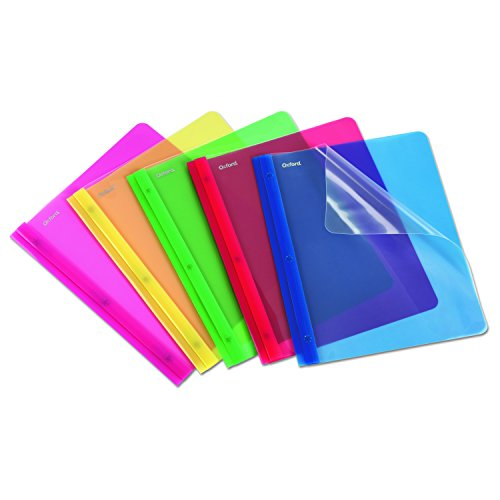 Clear Front Translucent Poly Report Covers, 8-1/2 x 11, Assorted Colors, 25/Box (ESS99812) Clear Front Translucent Portfolios