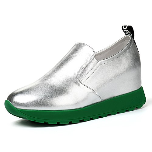 Loafer Schuhe, Dick-soled Plateau Schuhe,Womens Shoes In Casual White Schuh C