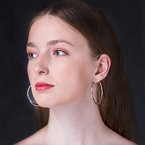 Buy womens silver hoop earrings