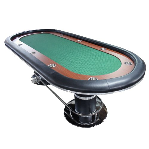 96-10-Players-Texas-Holdem-Poker-Table-Green-Racetrack-Cup-Holder-Opened-Box