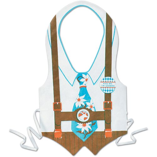 Pkgd Plastic Oktoberfest Vest Party Accessory (1 count) (1/Pkg) (Idee Originali Per Halloween)