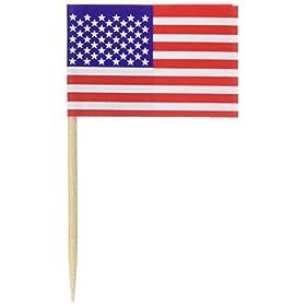 Beistle Pkgd U S Flag Picks Party Accessory (1 Cou...