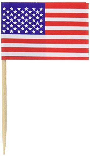Pkgd U S Flag Picks   (50/Pkg)]()